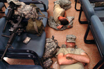 Free Picture of Army Soldiers Sleeping on teh Floor