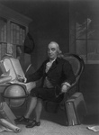 Free Picture of Benjamin Franklin With Globe and Compass