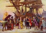 Free Picture of Benjamin Franklin Arriving in Philadelphia