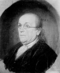 Free Picture of Benjamin Franklin Facing Left, Wearing Eye Glasses