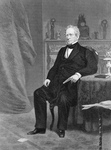 Free Picture of Edward Everett Seated by Table and Fireplace