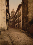 Free Picture of Cobbled Street Scene in Fuenterrabia, Spain