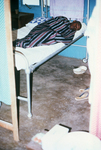 Free Picture of Lassa Fever Patient Resting in the Male Wing of Segbwema, Sierra Leone Clinic