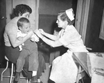 Free Picture of Child Receiving a Smallpox Vaccine - 1960's