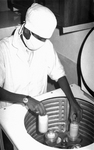 Free Picture of Technician Creating a Smallpox Vaccine at a Bangladesh Laboratory