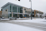 Winter Snow at the Jackson County Library in Medford, Oregon