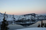 Wizard Island at Crater Lake, Dusk