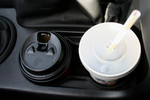 Beverages in Car Cup Holders