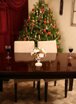 Table Setting at Christmas Time