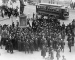Suffrage Demonstration at Park Row, New York City