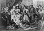 Christopher Columbus Kneeling in Front of Queen Isabella I - Bla