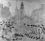 Black and White Version of The Bloody Massacre Perpetrated in King Street, Boston on March Revere