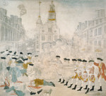 The Bloody Massacre, 1770, King Street, Boston