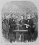 Lincoln Taking the Oath at His Second Inauguration
