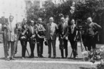 President Coolidge With White House Photographers Association