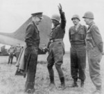 General Eisenhower With Generals Patton, Bradley, and Hodges
