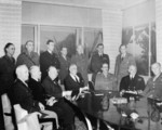 American and British Military Leaders at the Casablanca Conference