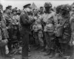 Dwight David Eisenhower Giving Orders to American Paratroopers