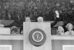 Gerald Ford and Ronald Reagan at Podium