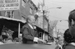 Gerald Ford Waving From Sunroof of Car