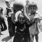 Children Playing With a Ball