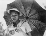 African American Woman With Umbrella