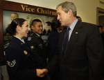 George W Bush Shaking Hands