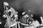 Firefighters Battling a Fire that was Sparked Days After Hurricane Hugo