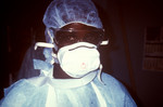 Zairian Nurse Prepared to Enter an Ebola VHF Isolation Ward During the a 1995 Outbreak in Kikwit, Zaire.