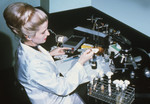 Nurse Working with a Mycology Lab Training Kit - 1970