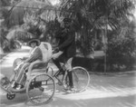 Billie Burke in a Bicycle Sedan