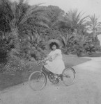 Princess Jolanda on a Bike