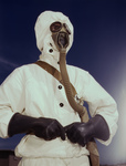 Sailor Wearing Gas Mask