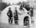 Inuit Eskimos With Igloo