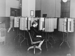 Woman Working at Files