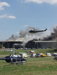 Helicopters and Ambulances at the Pentagon, September 11th 2001