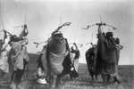 Atsina Indians Shooting Arrows