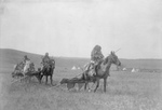 Atsina Native Americans Moving Their Camp