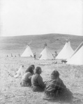 Indians and Tipis at Camp Gossips