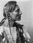Mandan Native American Man With Braids, Spotted Bull