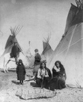 One Bull and Black Praire Chicken, Sioux Indians
