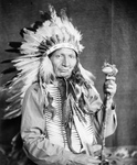Stock Image: Sioux Native American Man Named Red Horn Bull