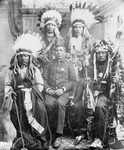 Stock Image: Capt. Geo Sword With Buffalo Bill's Indians