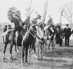 Stock Image: Sioux Indians and Horses