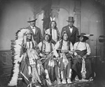 Stock Image: 7 Sioux Indian Men