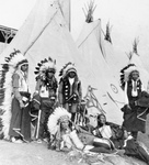 Stock Image: Sioux Chiefs and Tipis