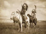 Three Sioux Chiefs on Horses