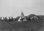 Sioux Indians Near a Tipi