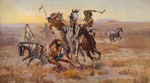 Sioux and Blackfeet Indian Battle