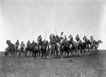 Brule Indian War Party on Horses